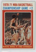 1970-71 NBA Basketball Championship Game # 2 Bucks Make It Two Straight