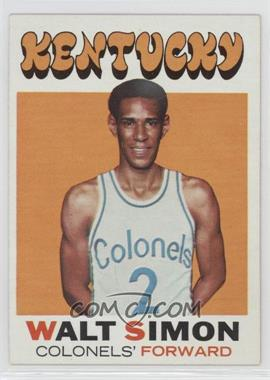 1971-72 Topps - [Base] #214 - Walter Simon