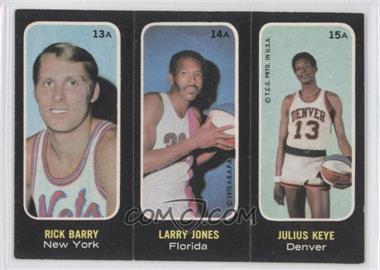 1971-72 Topps Trios Stickers #13A-14A-15A - Rick Barry, Larry Jones, Julius Keye