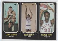 Larry Cannon, Zelmo Beaty, Charlie Scott
