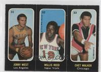 Jerry West, Willis Reed, Chet Walker