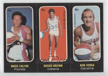 1971-72 Topps Trios Stickers #4A-5A-6A - Mack Calvin, Roger Brown, Bob Verga