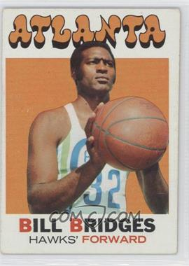 1971-72 Topps #132 - Bill Bridges [Good to VG‑EX]