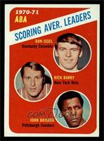 ABA Scoring Aver. Leaders (Dan Issel, Rick Barry, John Brisker) [EX MT]