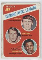 ABA Scoring Aver. Leaders (Dan Issel, Rick Barry, John Brisker)
