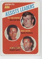 Mack Calvin, Charlie Scott, Bill Meggett, Bill Melchionni [Good to VG…