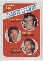 Mack Calvin, Charlie Scott, Bill Meggett