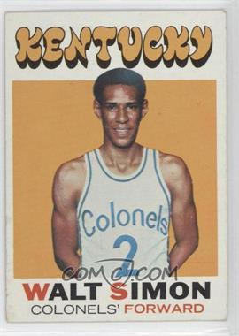 1971-72 Topps #214 - Walter Simon