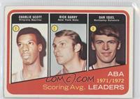 1971-72 ABA Scoring Avg. Leaders (Charlie Scott, Rick Barry, Dan Issel)