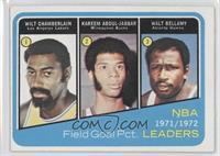 Wilt Chamberlain, Kareem Abdul-Jabbar, Walt Bellamy