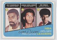 Wilt Chamberlain, Kareem Abdul-Jabbar, Wes Unseld