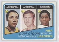 Lenny Wilkens, Jerry West, Nate Archibald [Good to VG‑EX]