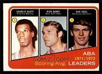 1971-72 ABA Scoring Avg. Leaders (Charlie Scott, Rick Barry, Dan Issel) [VG]