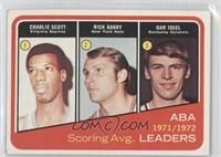1971-72 ABA Scoring Avg. Leaders (Charlie Scott, Rick Barry, Dan Issel)