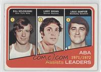 Larry Brown, Louie Dampier, Bill Melchionni, Bill Meggett