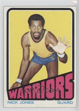 1972-73 Topps #58 - Nick Jones