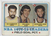 Field Goal Pct Leaders (Wilt Chamberlain, Matt Guokas, Kareem Abdul-Jabbar) [Po…