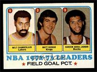 Field Goal Pct Leaders (Wilt Chamberlain, Matt Guokas, Kareem Abdul-Jabbar) [NM]