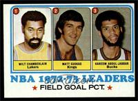 Field Goal Pct Leaders (Wilt Chamberlain, Matt Guokas, Kareem Abdul-Jabbar) [EX]