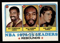 Wilt Chamberlain, Nate Thurmond, Dave Cowens, Los Angeles Lakers Team [EX …