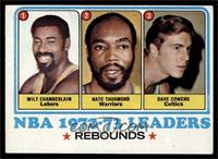 Wilt Chamberlain, Nate Thurmond, Dave Cowens, Los Angeles Lakers Team [EX]