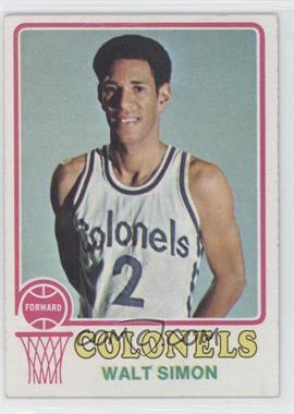1973-74 Topps #218 - Walter Simon