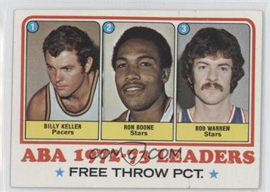 1973-74 Topps #237 - Bill Keller, Ron Boone, Bob Warren