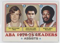 Bill Melchionni, Chuck Williams, Warren Jabali
