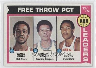1974-75 Topps - [Base] #210 - Jake Jones, Mack Calvin, Ron Boone, James Jones, James Jones