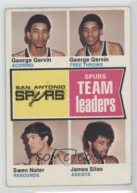 1974-75 Topps - [Base] #227 - George gervin, Swen nater, James Silas [GoodtoVG‑EX]