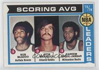 Scoring Average Leaders (Bob McAdoo, Pete Maravich, Kareem Abdul-Jabbar)
