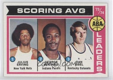 1974-75 Topps #207 - Scoring AVG. Leaders (Julius Erving, George McGinnis, Dan Issel)