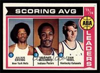 Scoring AVG. Leaders (Julius Erving, George McGinnis, Dan Issel) [EX MT]