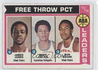 1974-75 Topps #210 - Jake Jones, Mack Calvin, Ron Boone, James Jones, James Jones