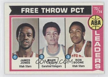1974-75 Topps #210 - Jake Jones, Mack Calvin, Ron Boone, James Jones, James Jones