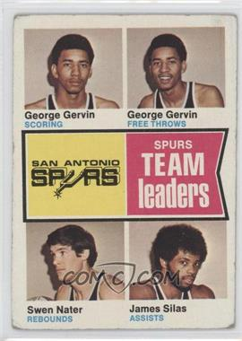 1974-75 Topps #227 - George gervin, Swen nater, James Silas [Good to VG‑EX]