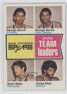 1974-75 Topps #227 - George gervin, Swen nater, James Silas