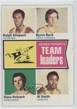 1974-75 Topps #227 - San Antonio Spurs Team