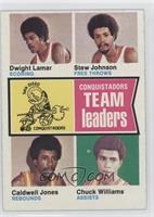 Caldwell Jones, Chuck Williams, Dwight Lamar, Stew Johnson
