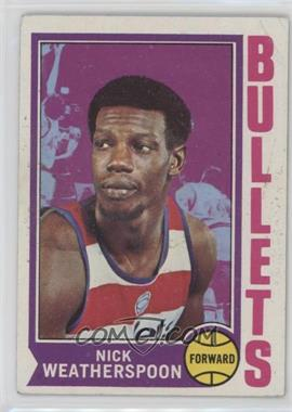1974-75 Topps #61 - Nick Weatherspoon [Good to VG‑EX]