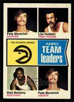 Pete Maravich, Lou Hudson, Walt Bellamy [NM]