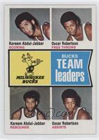 Bucks Team Leaders (Kareem Abdul-Jabbar, Oscar Robertson)