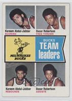 Bucks Team Leaders (Kareem Abdul-Jabbar, Oscar Robertson) [Good to VG…