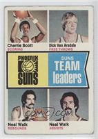 Phoenix Suns Team Leaders (Charlie Scott, Dick Van Arsdale, Neal Walk) [Good&nb…