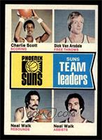 Phoenix Suns Team Leaders (Charlie Scott, Dick Van Arsdale, Neal Walk) [NM]