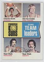 Phoenix Suns Team Leaders (Charlie Scott, Dick Van Arsdale, Neal Walk)