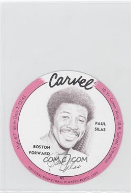 1975-76 Carvel Discs #PASI - Paul Silas