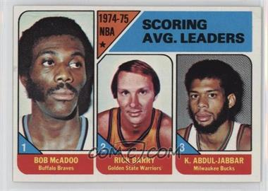 1975-76 Topps - [Base] #1 - NBA Scoring Leaders (Bob McAdoo, Rick Barry,Kareem Abdul-Jabbar)