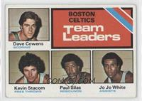 Boston Celtics Team Leaders (Dave Cowens, Kevin Stacom, Paul Silas, Jo Jo White…