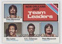 New Orleans Jazz Team Leaders (Pete Maravich, Stu Lantz, E.C. Coleman)